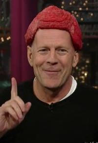 Bruce Willis wears Raw Meat Hair Piece to David Letterman.jpg